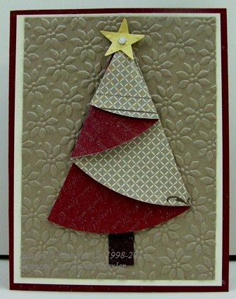 Stamp With Glenda Folded Christmas Trees Make Great Cards